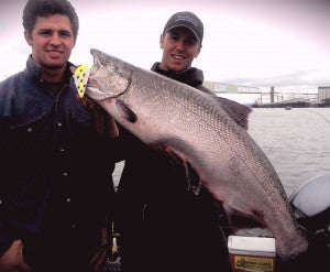 anchor fishing for salmon