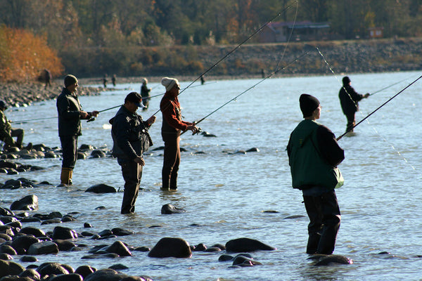 Crowded River Fishing
