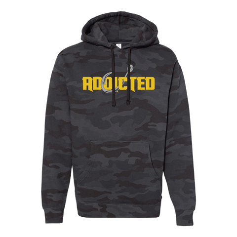 Premium Stealth Black Camo Addicted Hoodie (LIMITED EDITION)