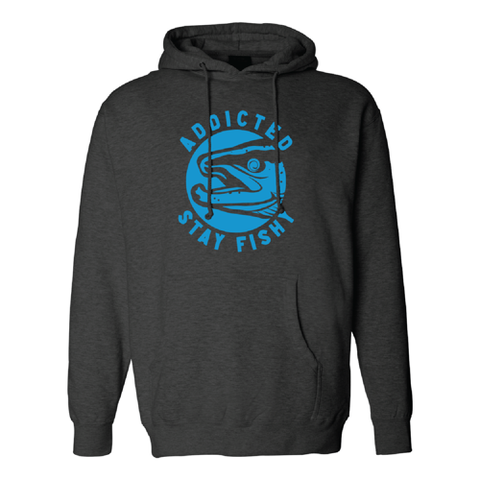 Premium Stay Fishy Electric Blue Logo Hoodie (LIMITED EDITION)