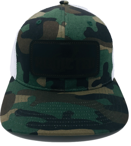 Addicted Camo Patch White Back Trucker
