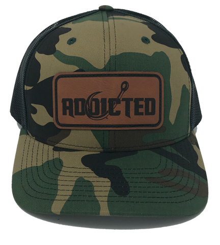 Addicted Camo Patch Black Back Trucker