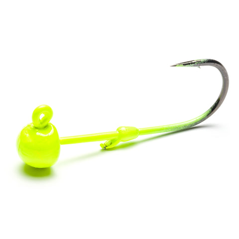 Chartreuse Addicted Worm Jig Head