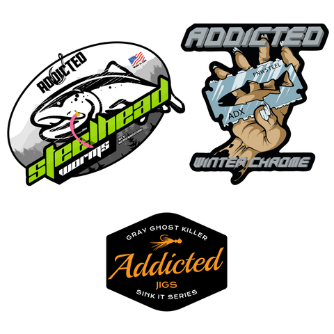 Addicted Chrome Ghost Decal Pack (Limited Edition)