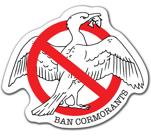 Ban Cormorants Sticker *NEW*
