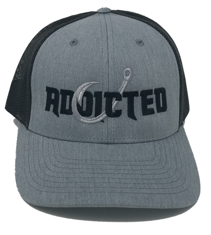 Addicted gray Large logo Trucker