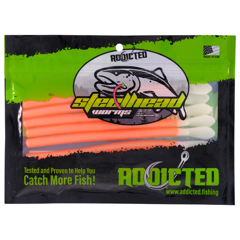 Peach Legend Steelhead Worms
