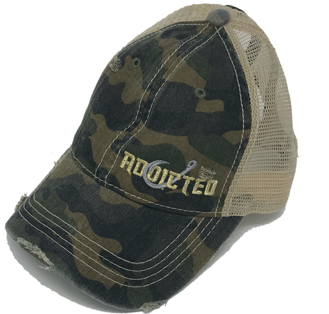 Camo Ladies High Ponytail Cap