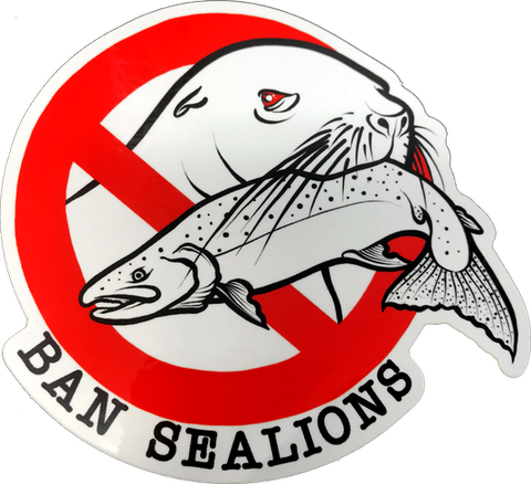 Ban Sea Lions Decal