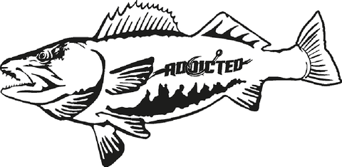 Walleye Decal Black