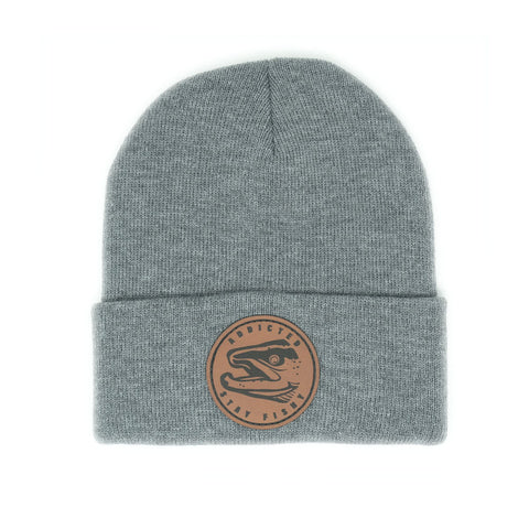 Addicted Stay Fishy Beanie Gray