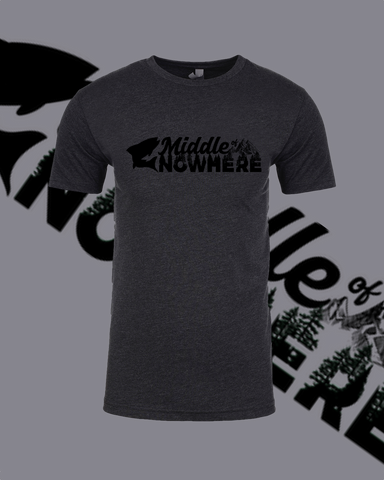 Middle Of Nowhere Charcoal T-Shirt