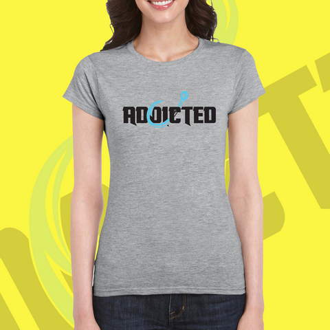 Addicted Electric Blue WOMENS Tee (LIMITED EDITION)