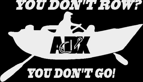 You don't row? White Vinyl Decal