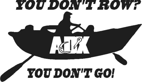 You don't row? Black Vinyl Decal