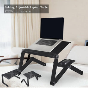 Adjustable Ergonomic Portable Aluminum Laptop Desk. (Mouse Pad Included) - bestshoppingco