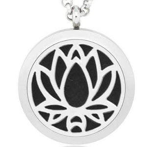 Lotus Flower Essential Oil Diffuser Necklace