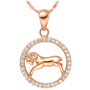 Rose Gold Zodiac Sign Necklace - Aries