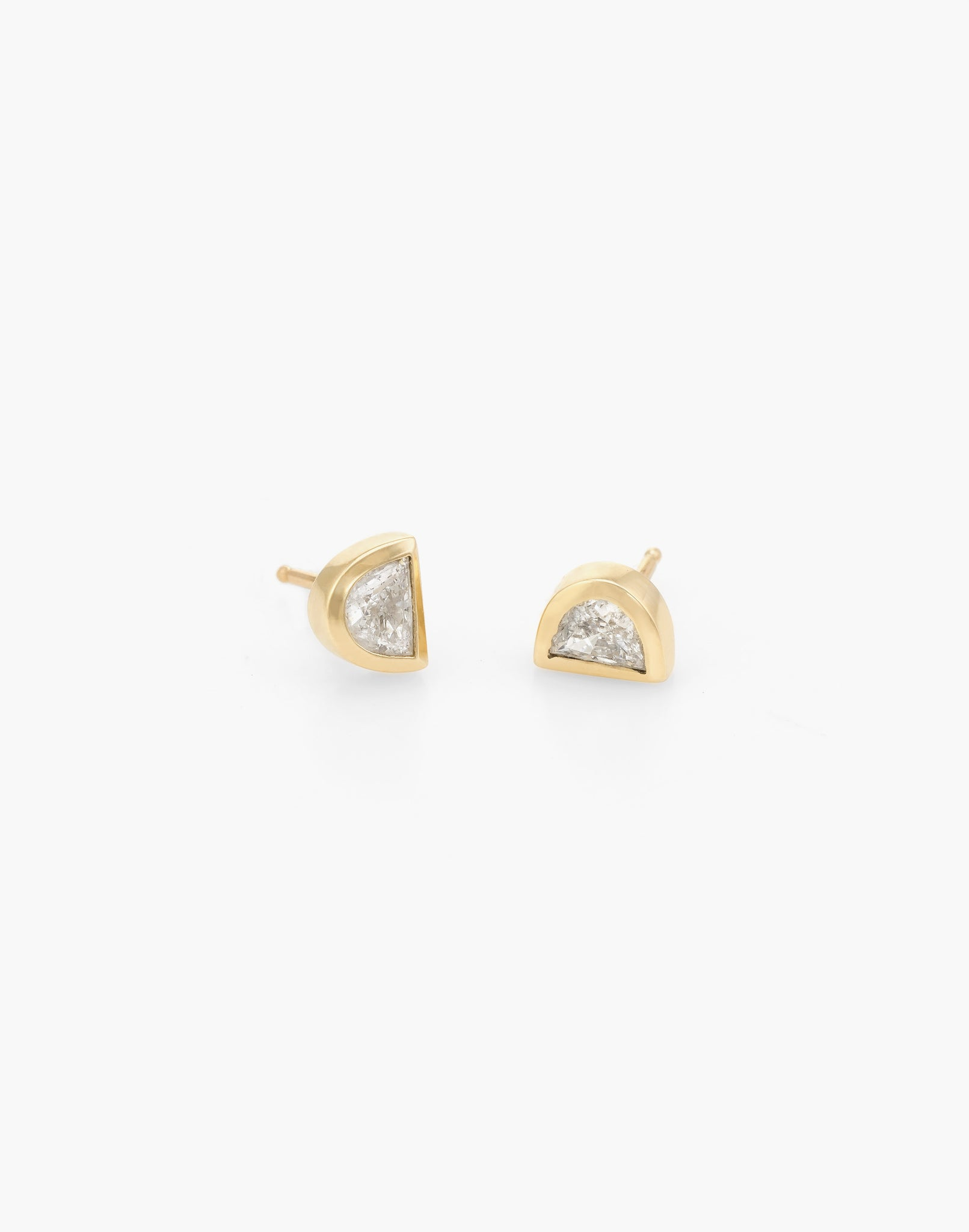 Moon Shaped Diamond Studs