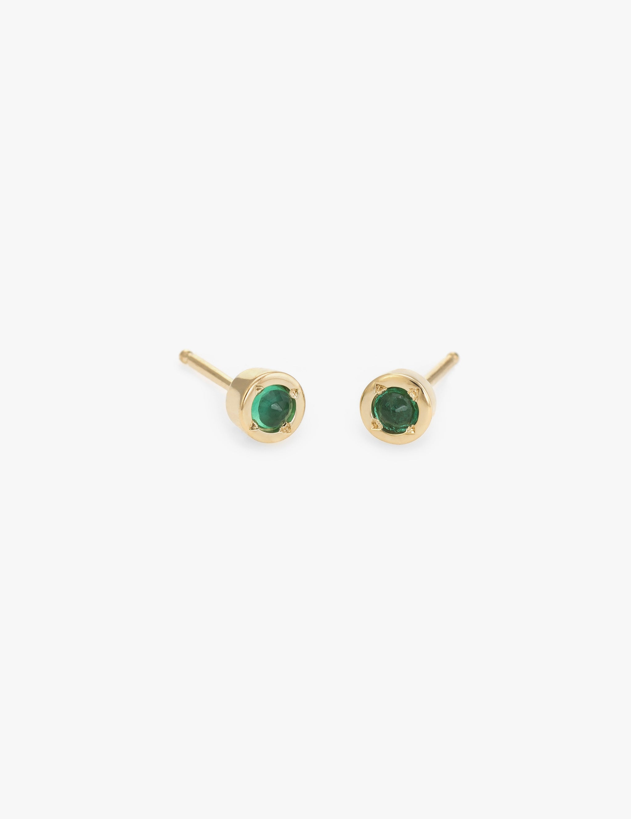 Tiny Dot Studs in Emerald