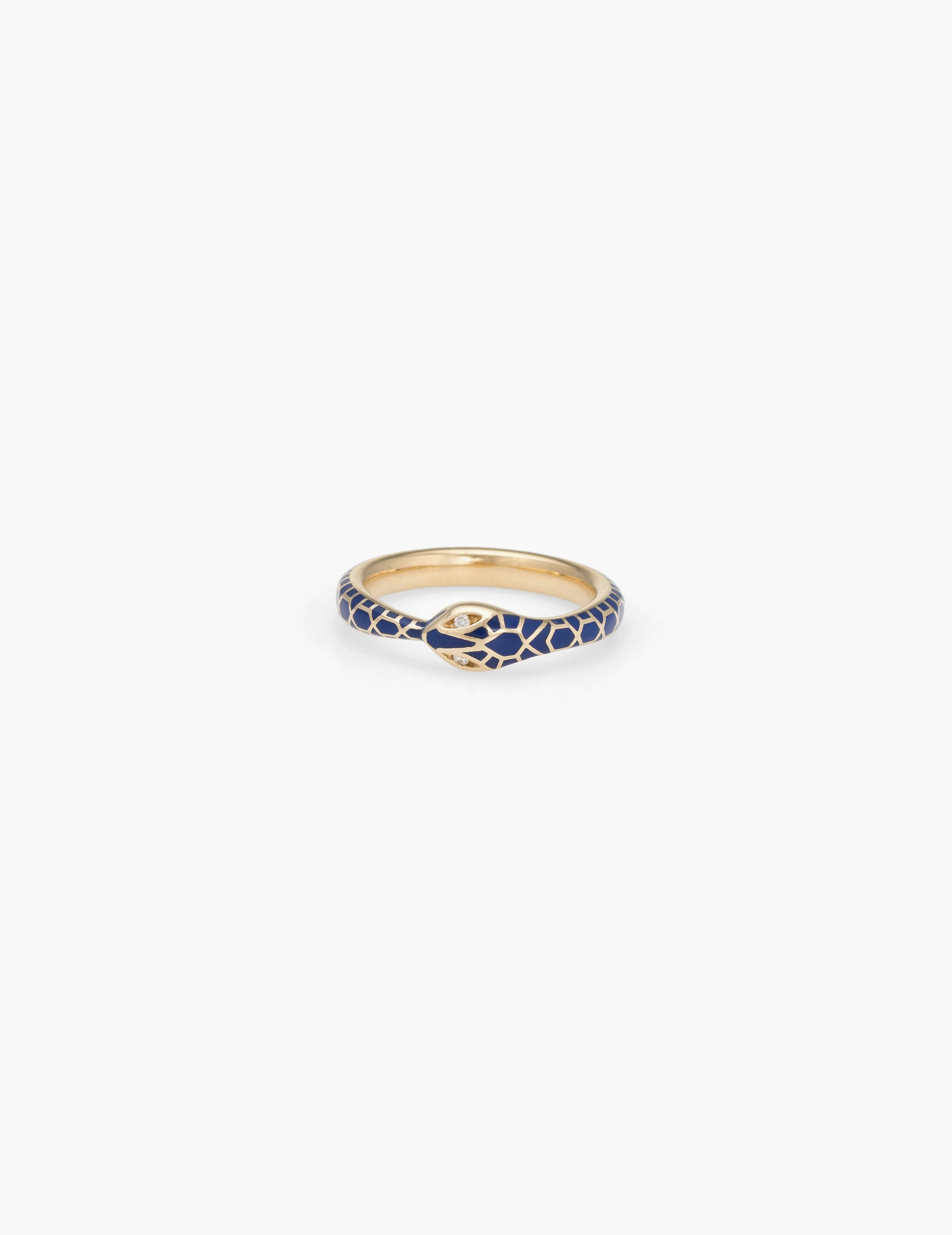 Enamel Ouroboros Ring - Diamond