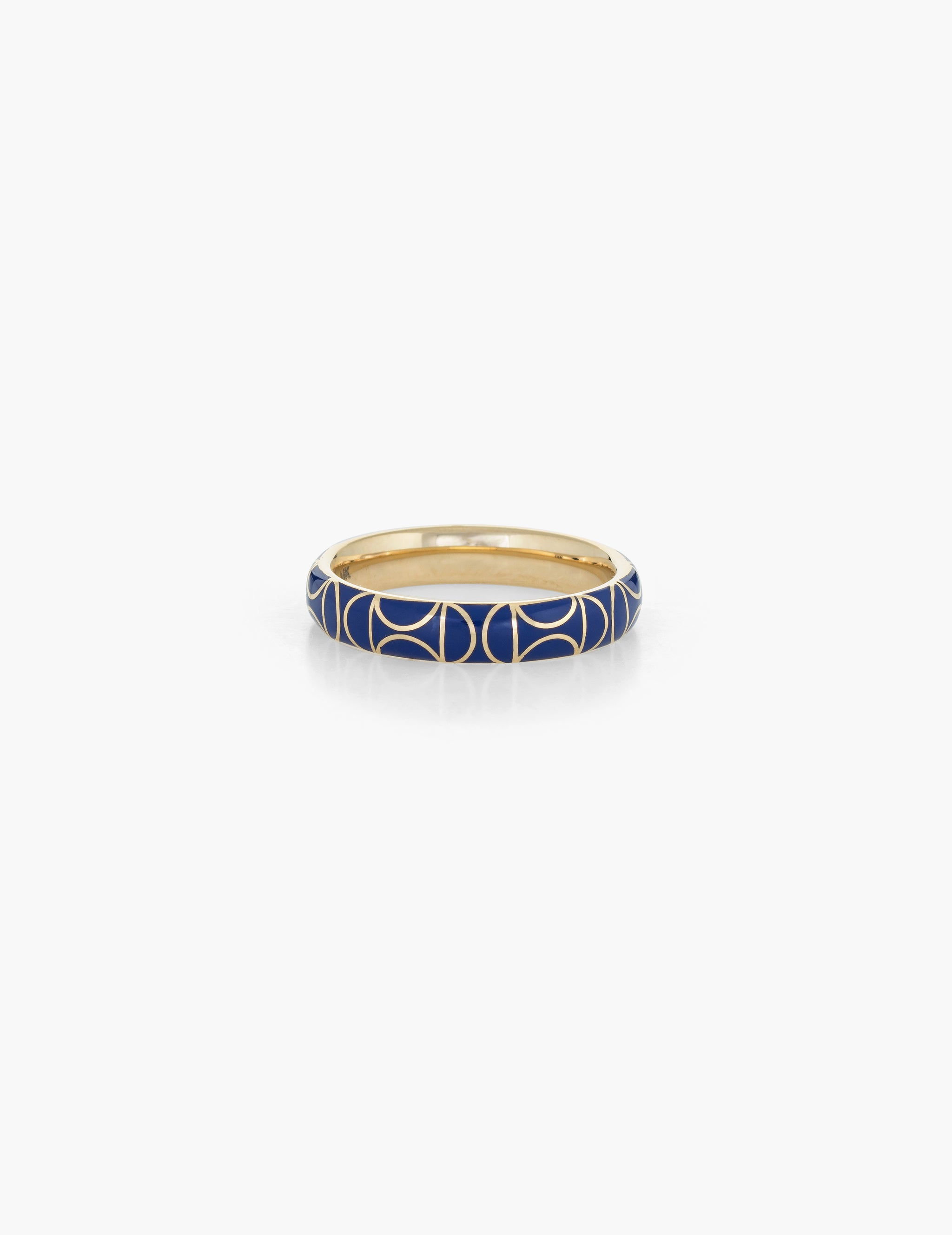 Deco motif Enamel Ring