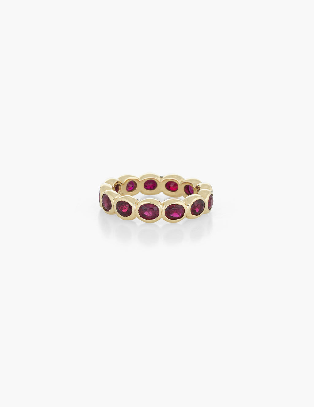 Oval Ruby Eternity Band