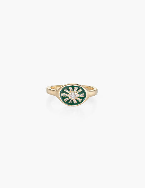 Green Margaret Ring