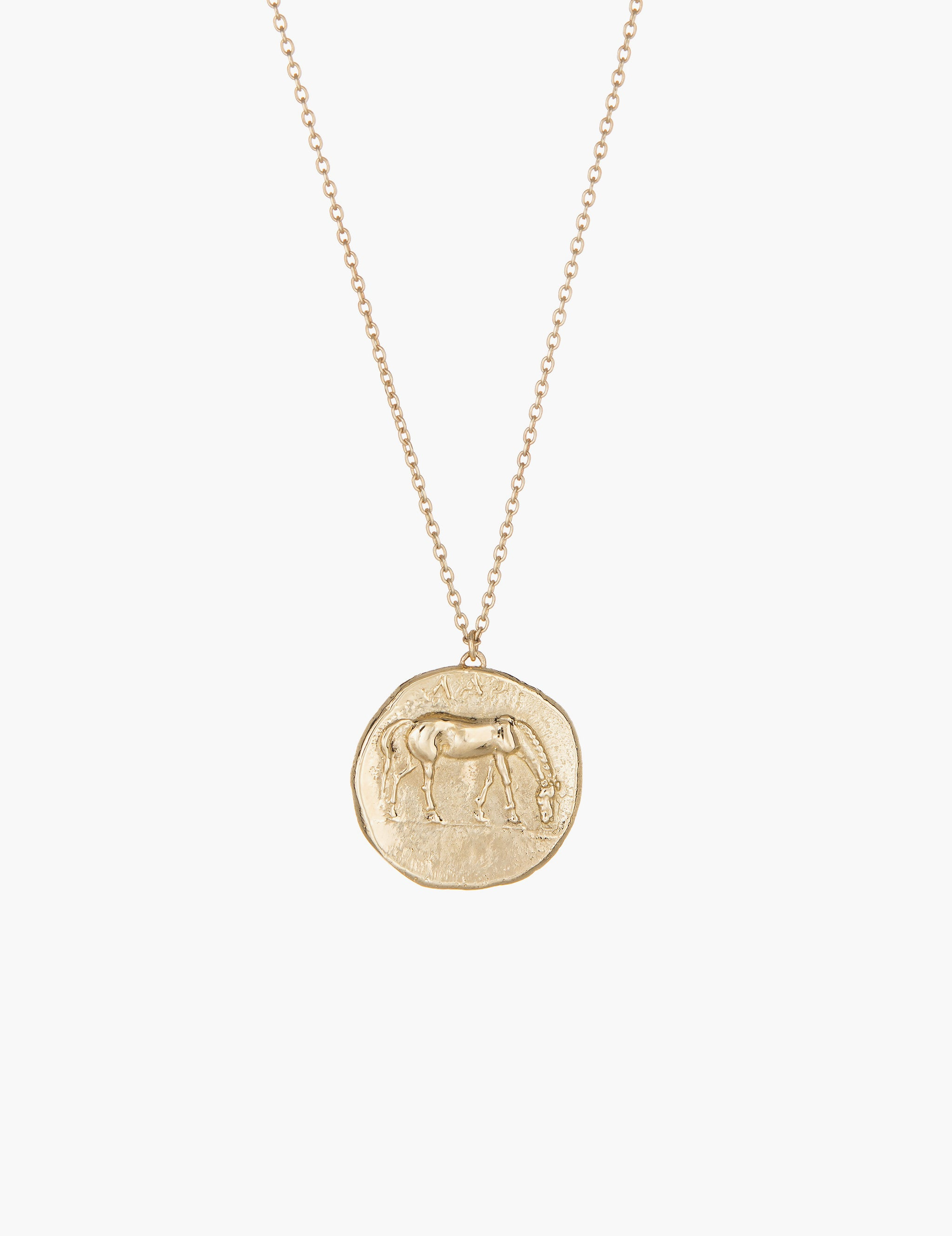Horse greek coin pendant