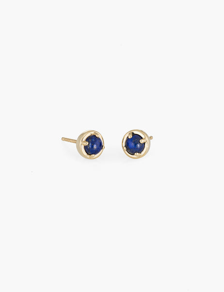 Lapis large dot studs