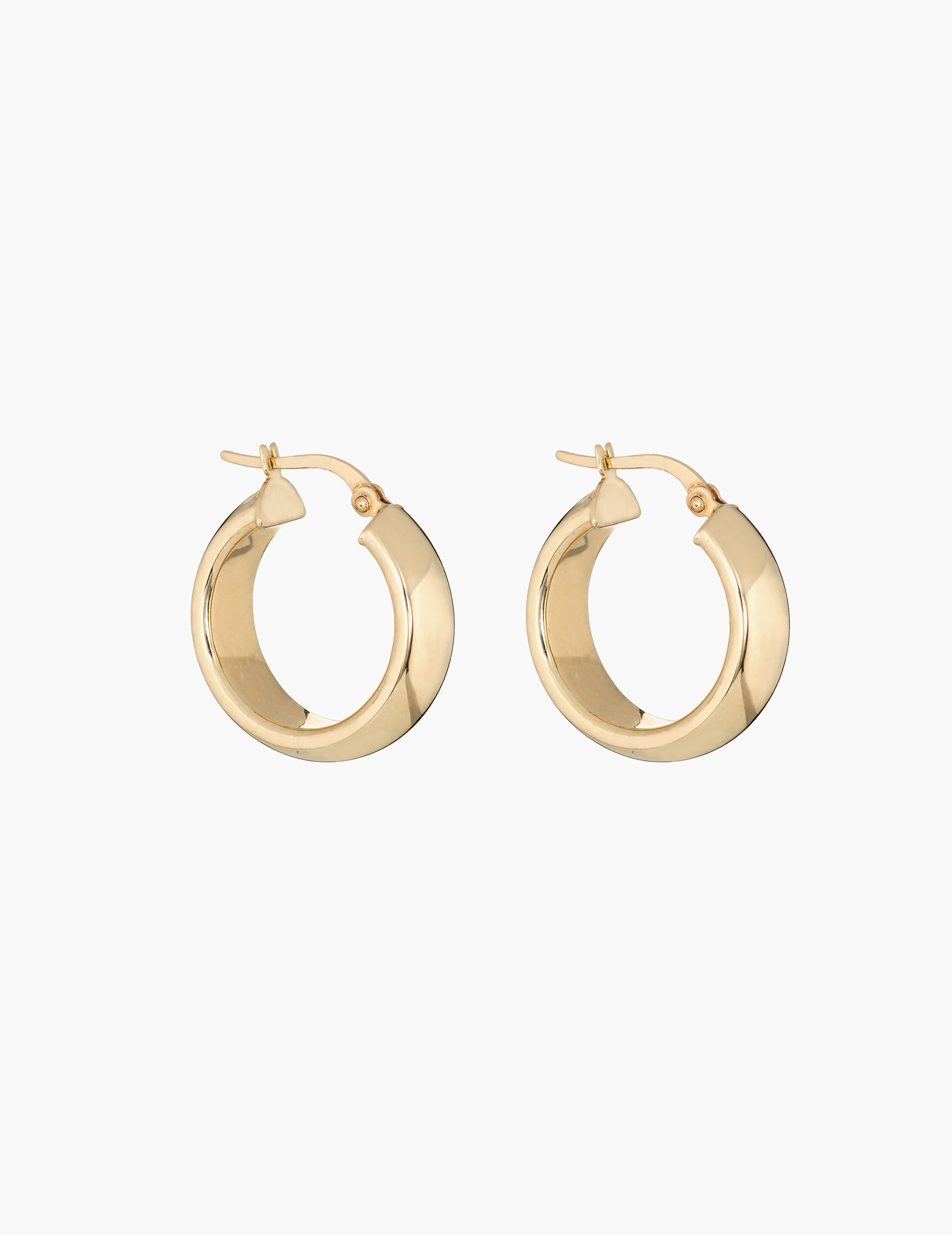 14k large gold hoops
