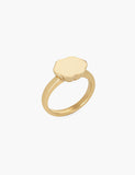 Petite Scallop Signet Ring