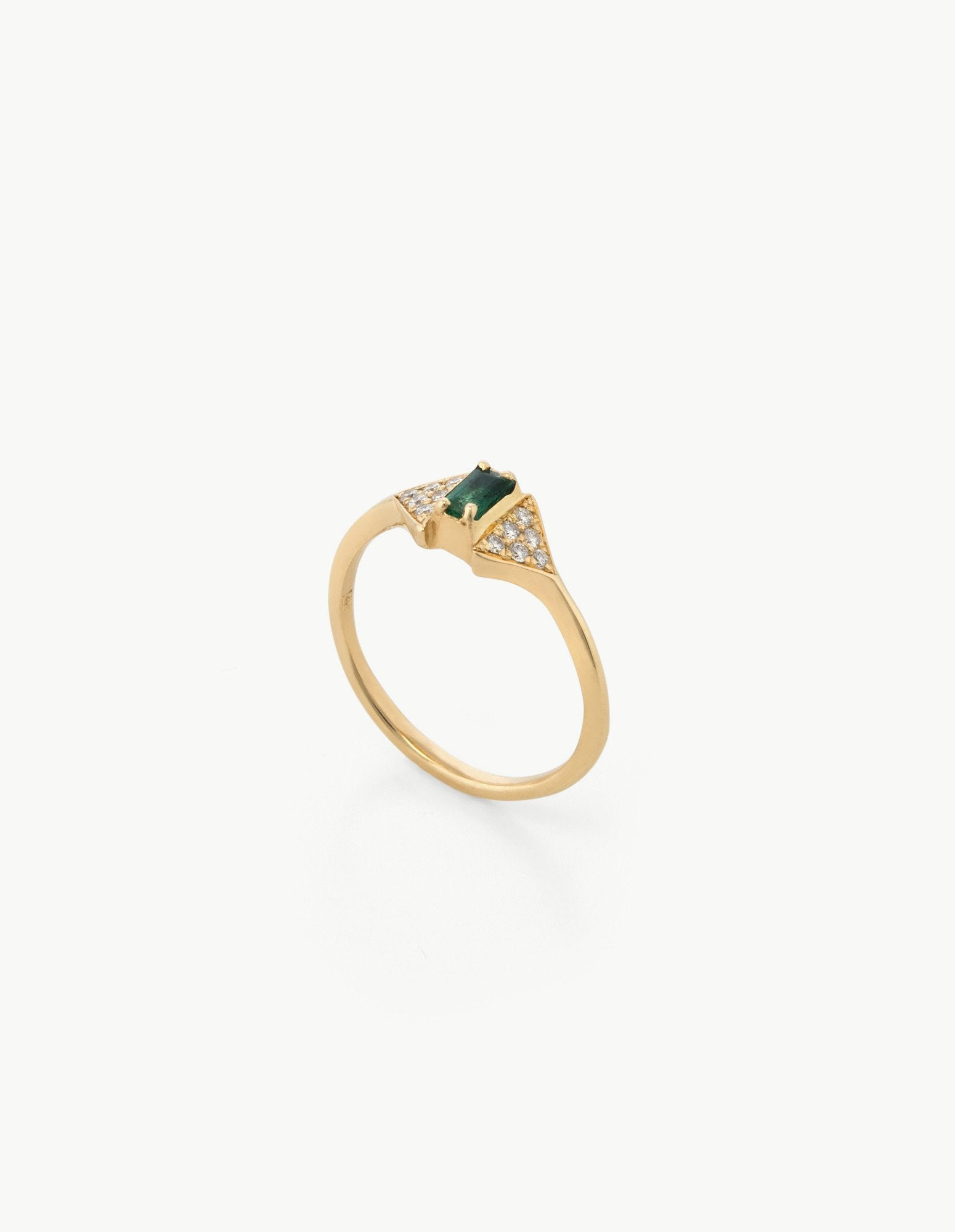 Joni Ring in Diamond and Emerald - Dream Collective