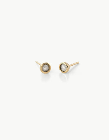 Tiny Dot Studs in White Diamonds - Dream Collective