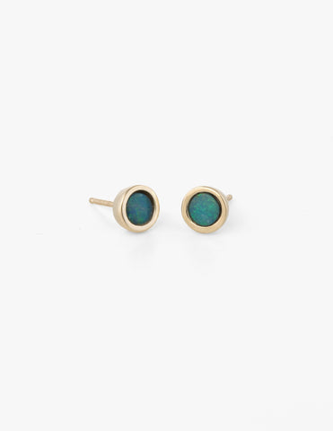 Big Dot Studs in Blue Opal - Dream Collective