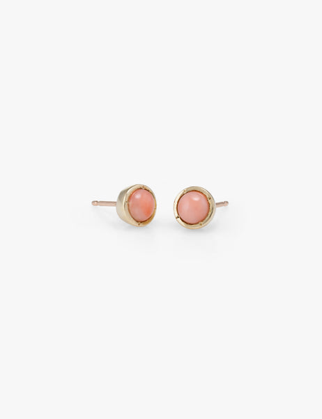Big Dot Studs in Coral