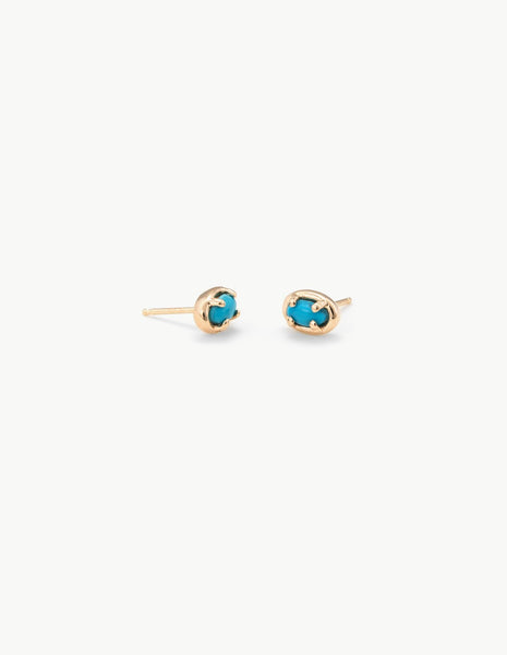Ellipse Studs in Turquoise - Dream Collective