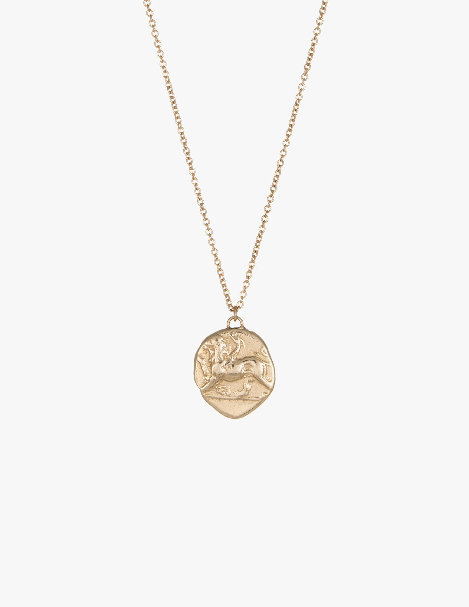 Chimera and Dove Coin Pendant