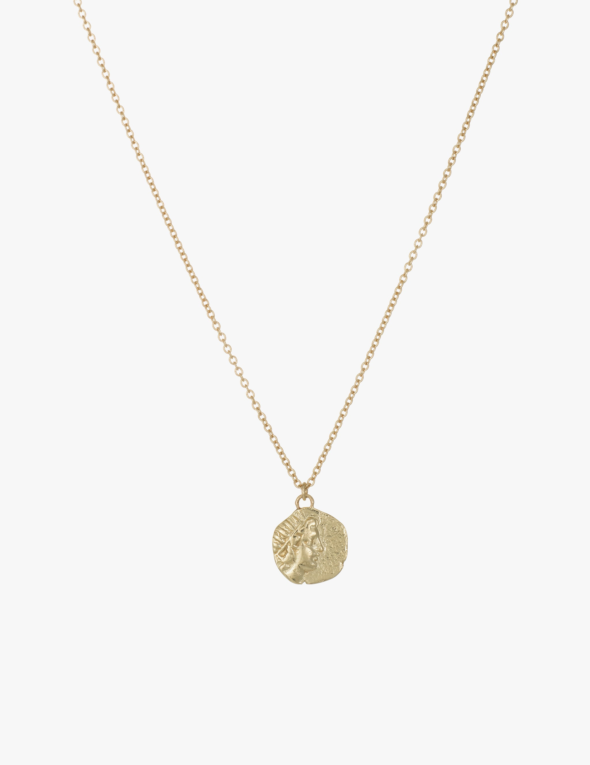 Helios and Rose Coin Pendant