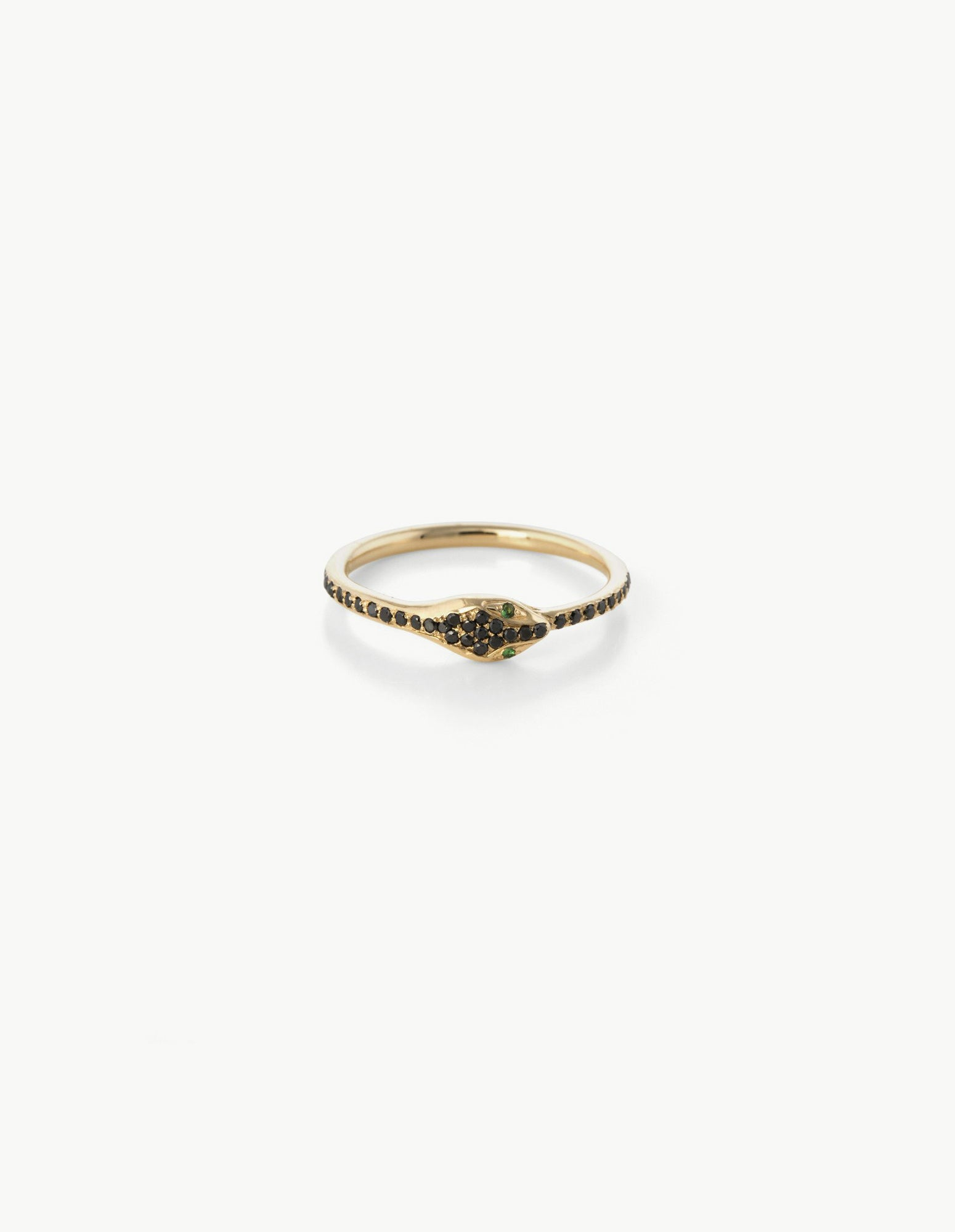 Black Diamond Ouroboros Eternity Ring