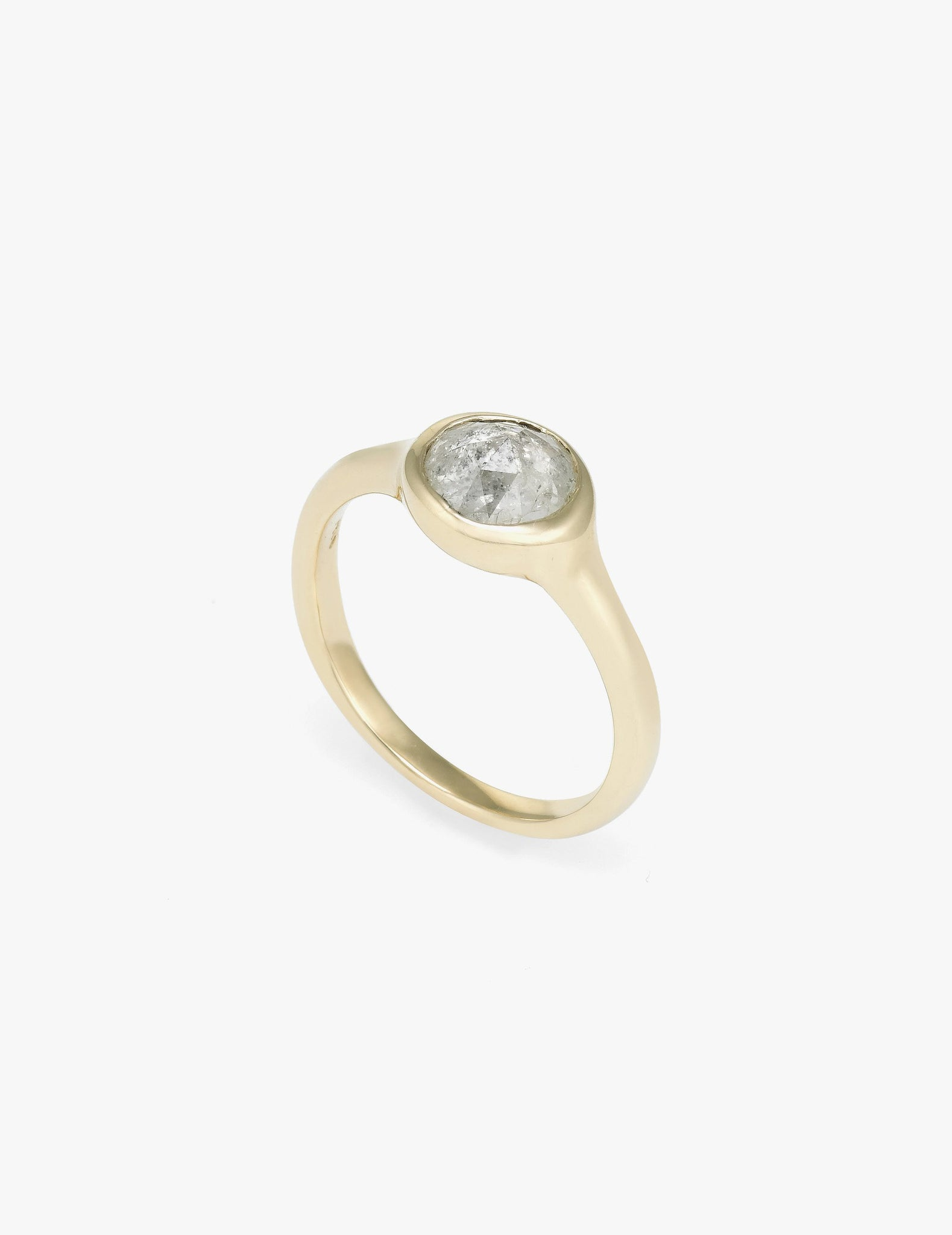 Simple Rose Cut Diamond Ring