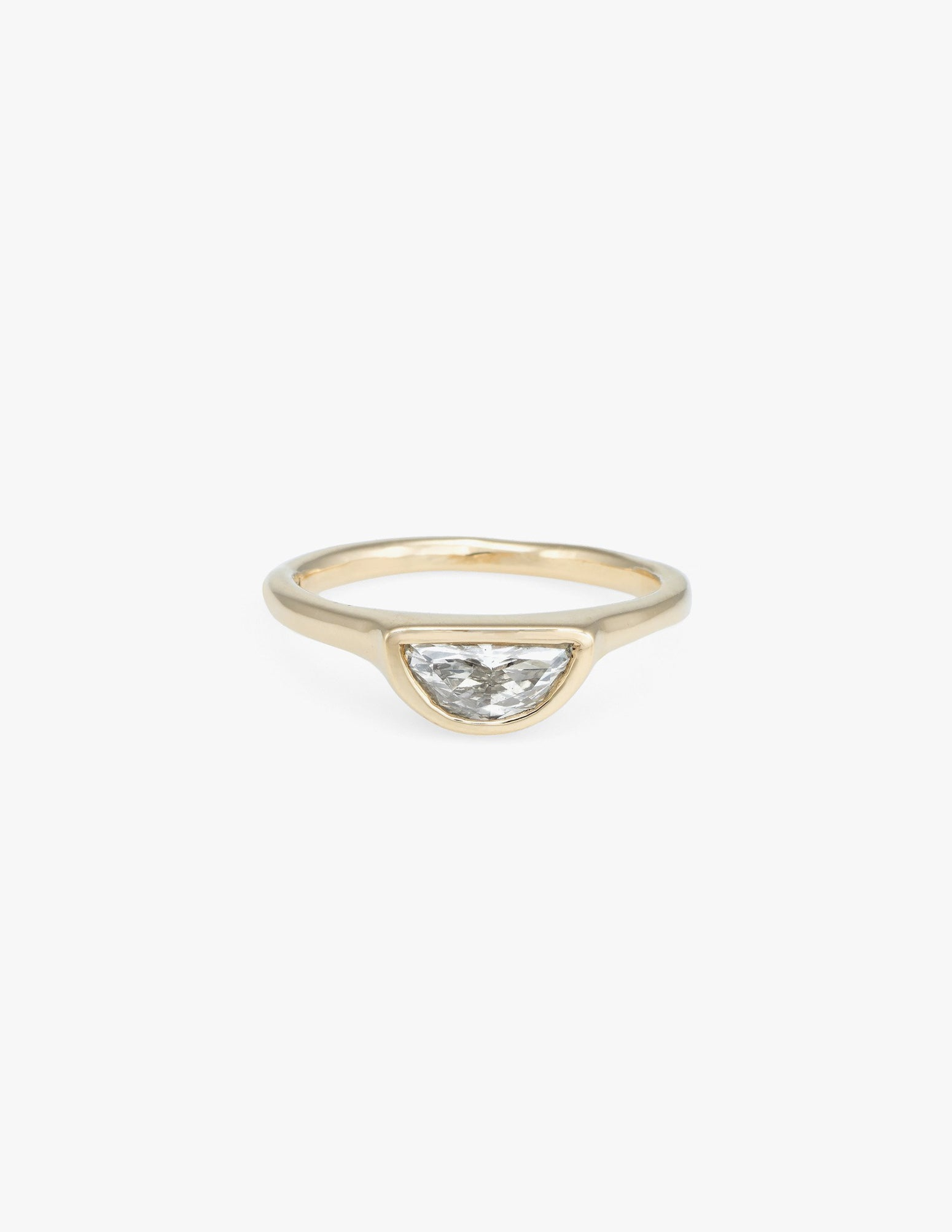 Diamond Half Moon Ring