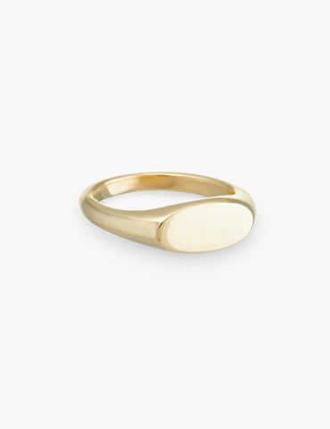 Ellipse Signet Ring