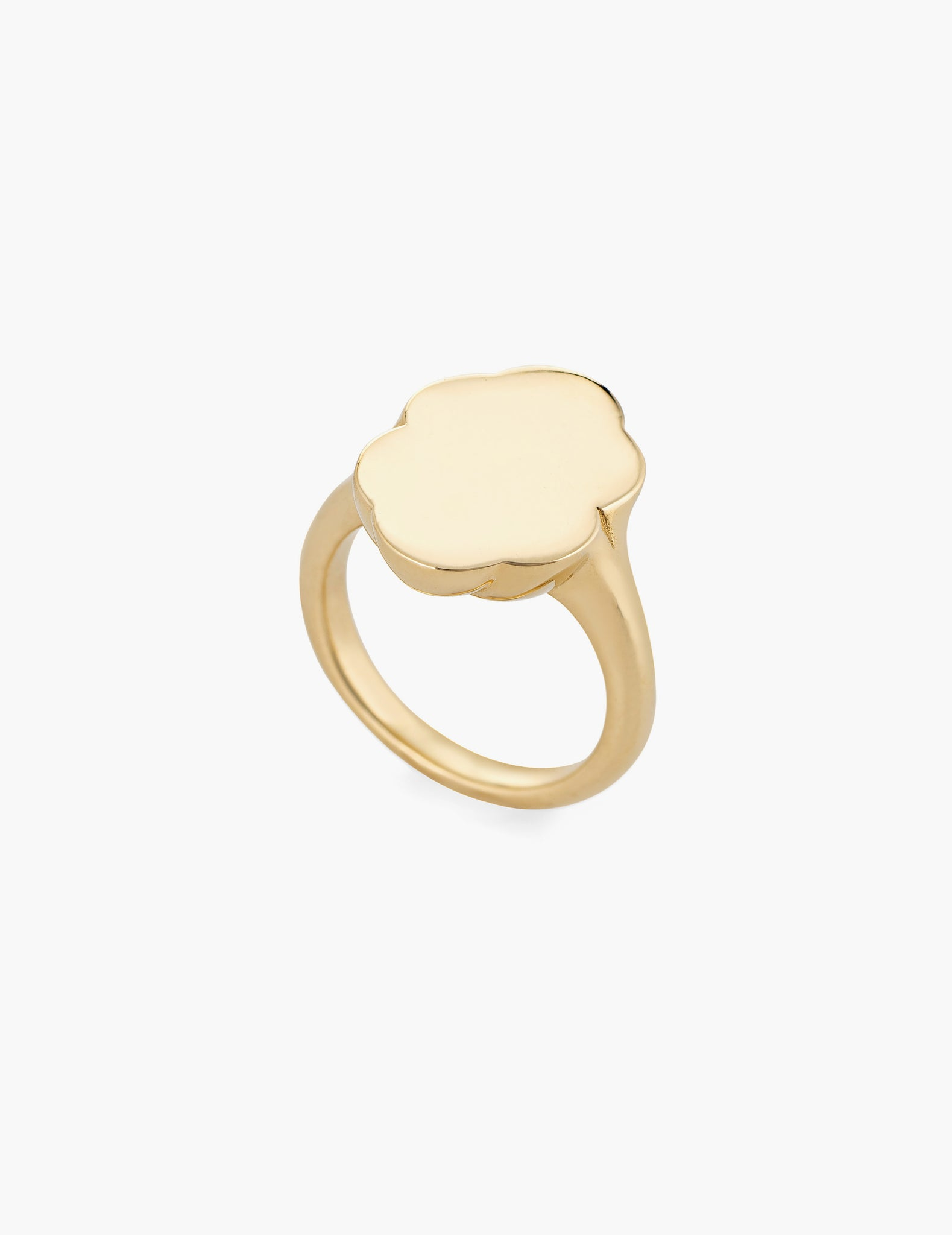 Scallop Signet Ring