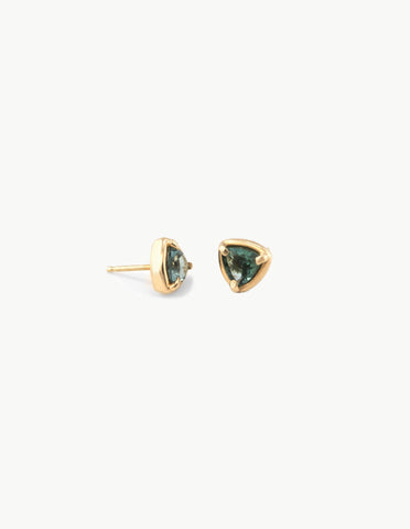 Prism Studs in Green Tourmaline - Dream Collective