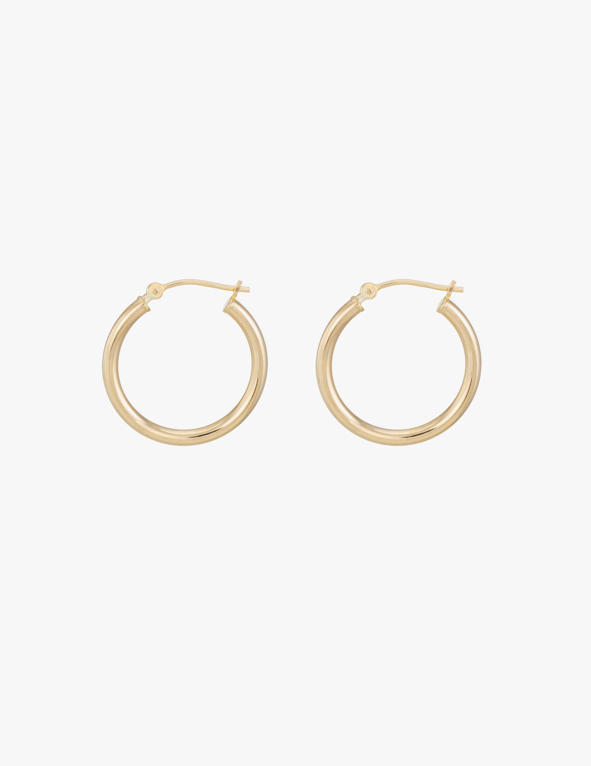 Small Classic Gold Hoops