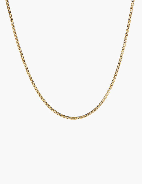 Round Box Chain Necklace