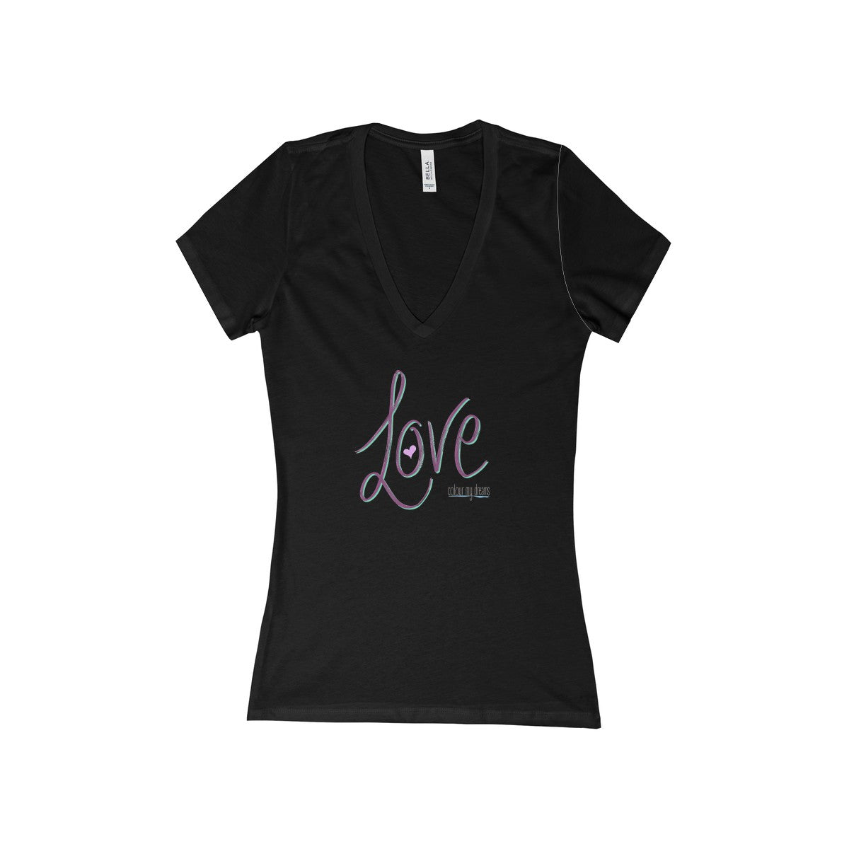 Women's V-Neck Jersey T-Shirt - Love