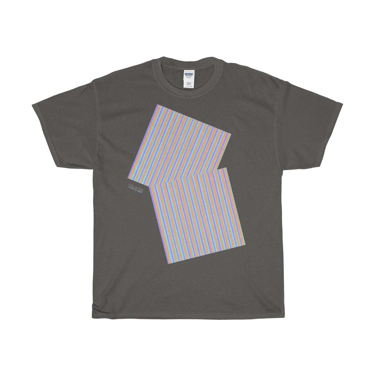 Men's Heavy Cotton T-Shirt - Candy Stripe