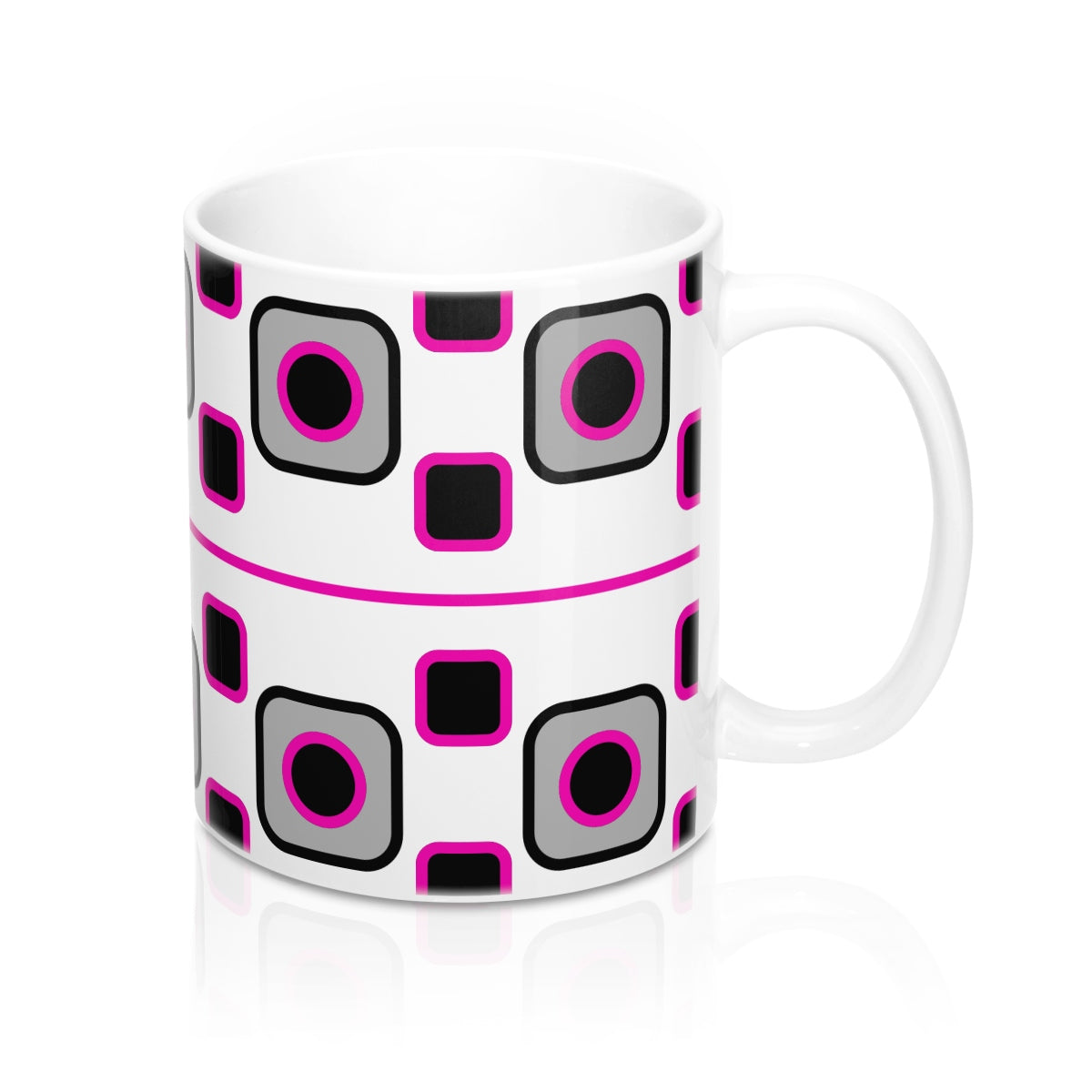 Mug - Retro Pink Black - Sample